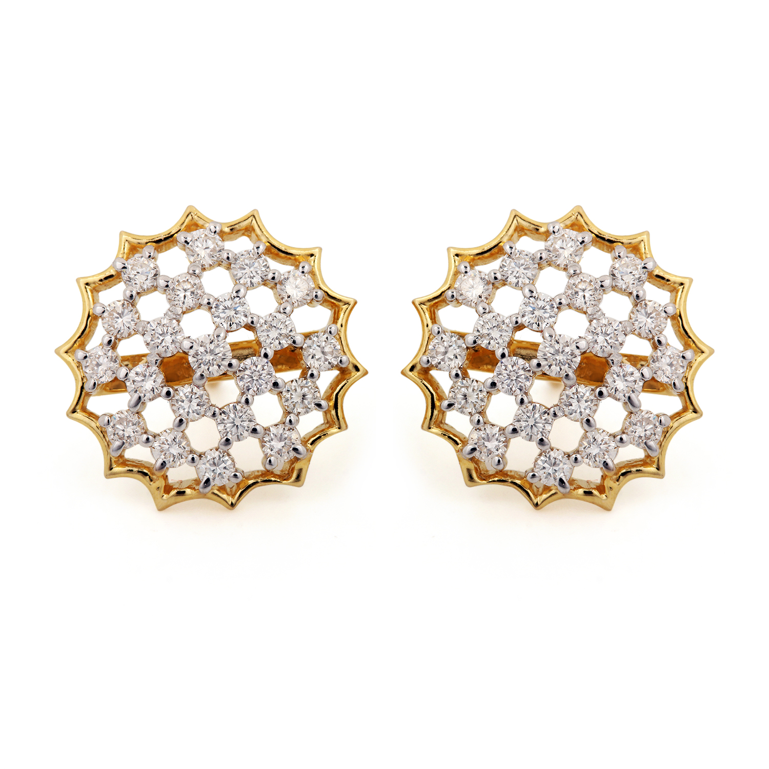 14k Solid Gold Earring With Diamond