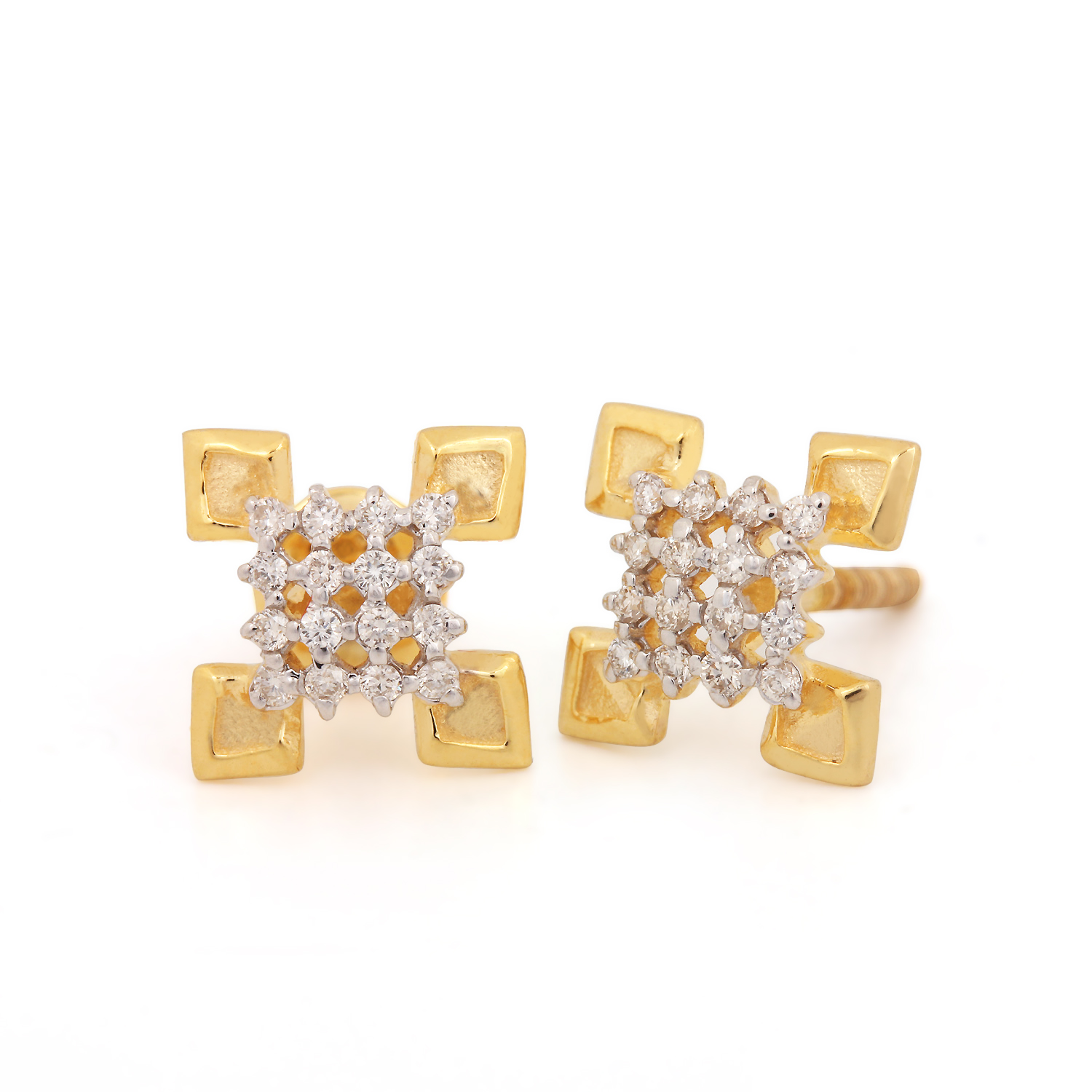 Gold Earring with Unique Design