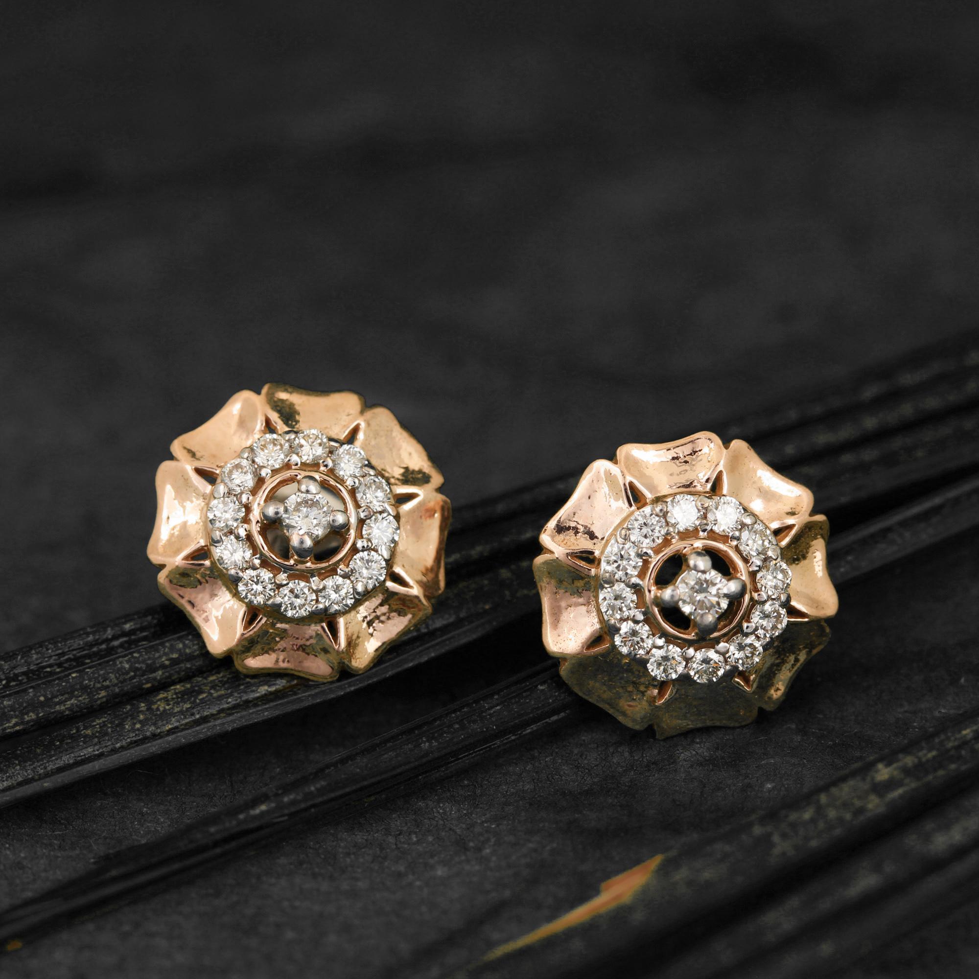 Beautiful Rose Gold Earring