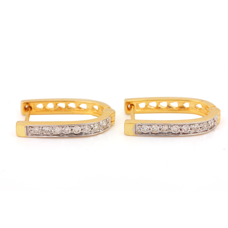 Majestic Earring In Gold & diamond