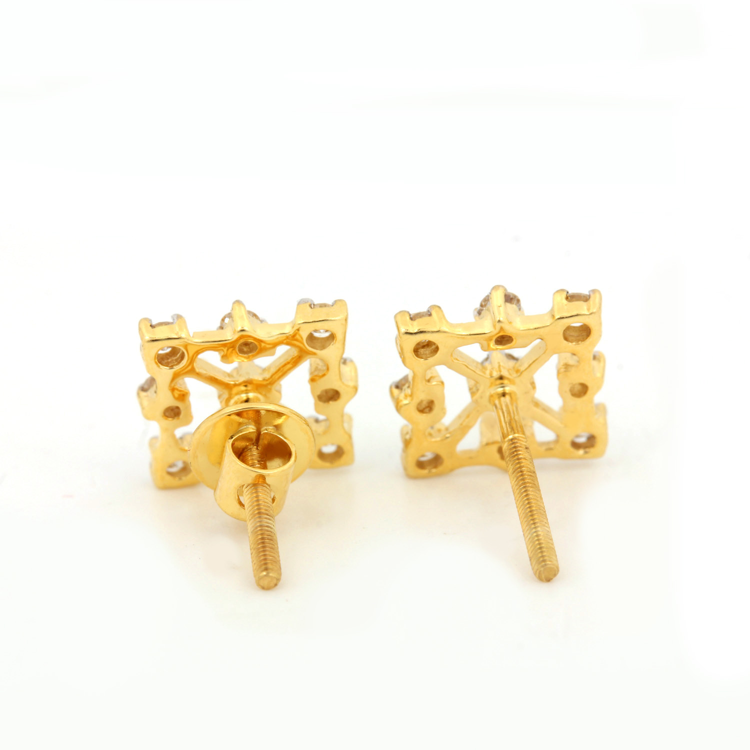 14 Gold Earring with Diamonds