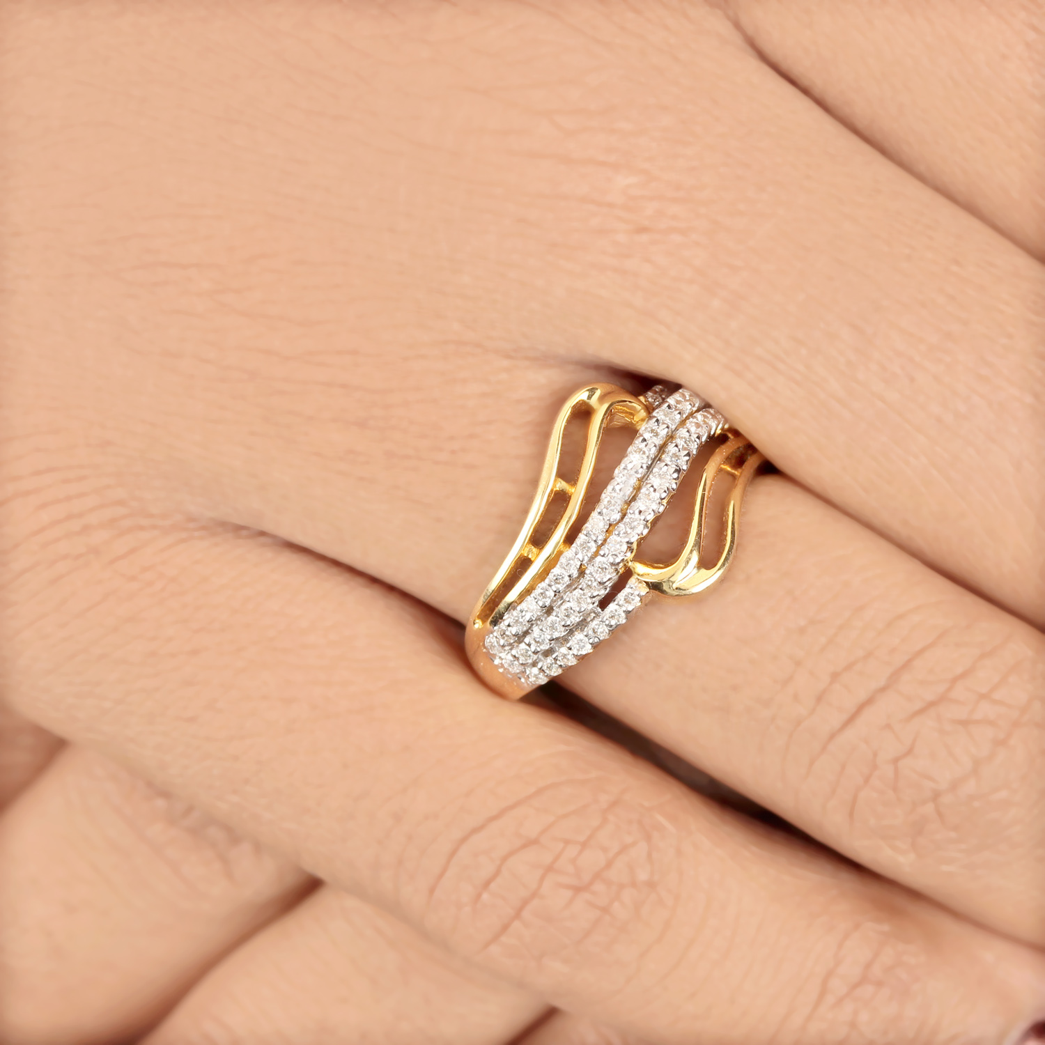 Natural Diamond Ring In Gold