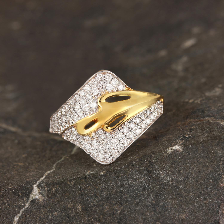Beautiful Diamond Ring In Gold