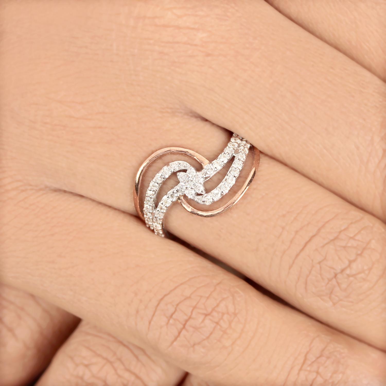 White & Rose Gold Ring