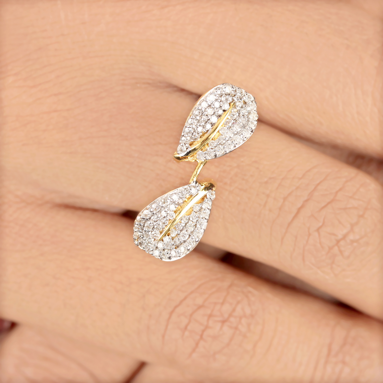 Leaves Designed Gold Ring