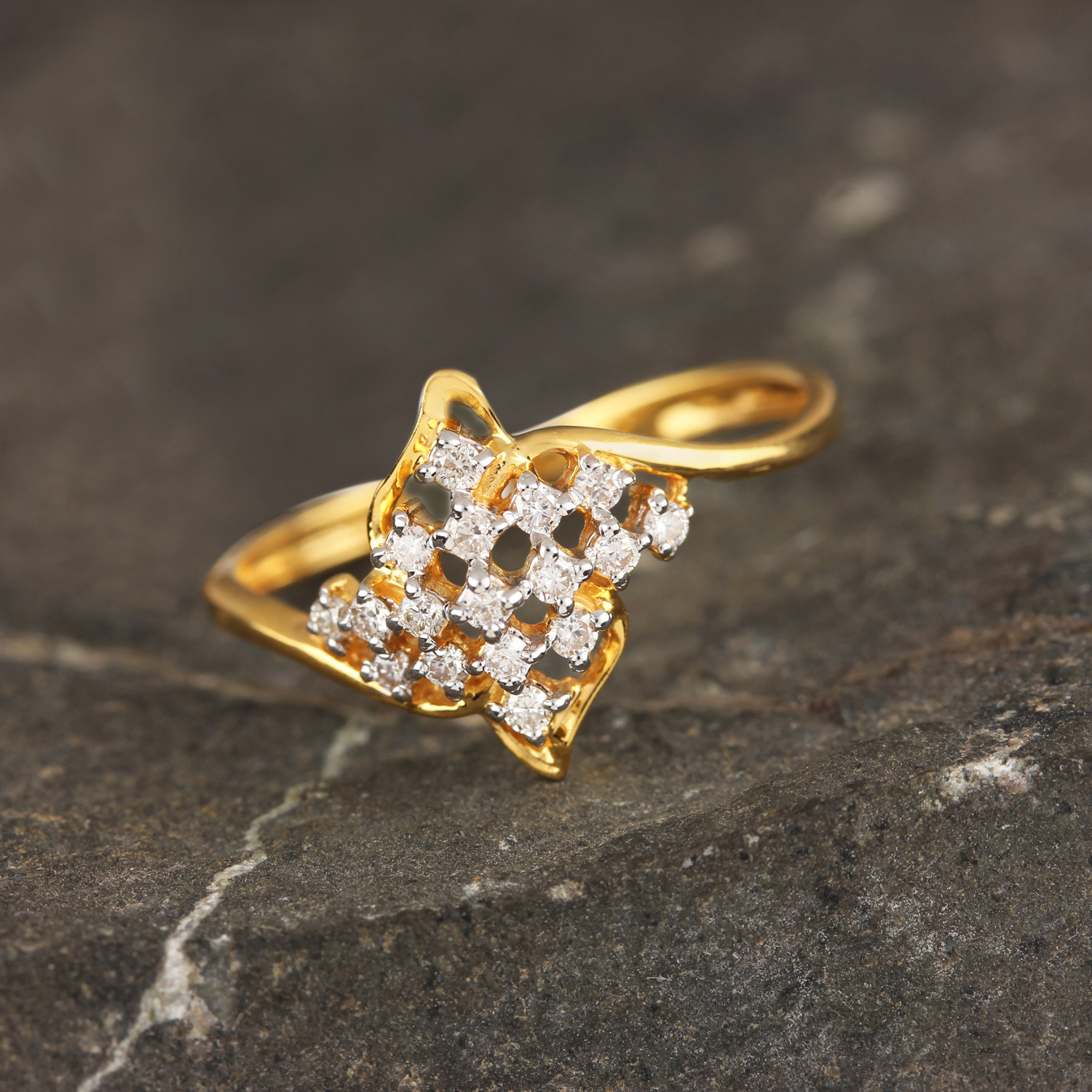 Gold With Diamond Ring