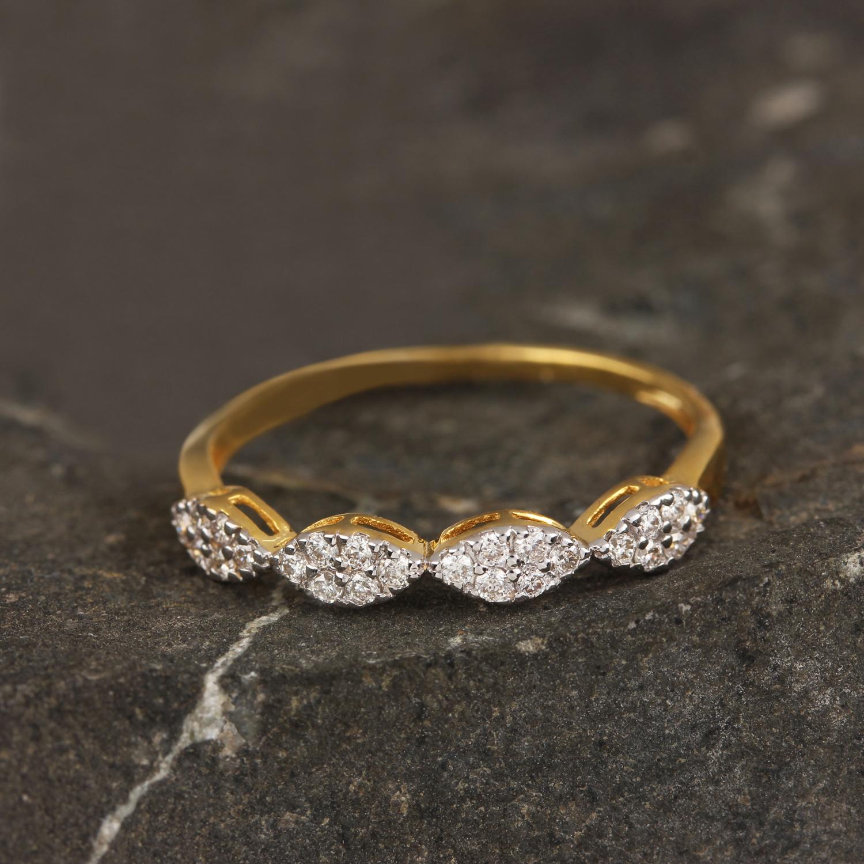 Beautiful Diamond Rind In Gold