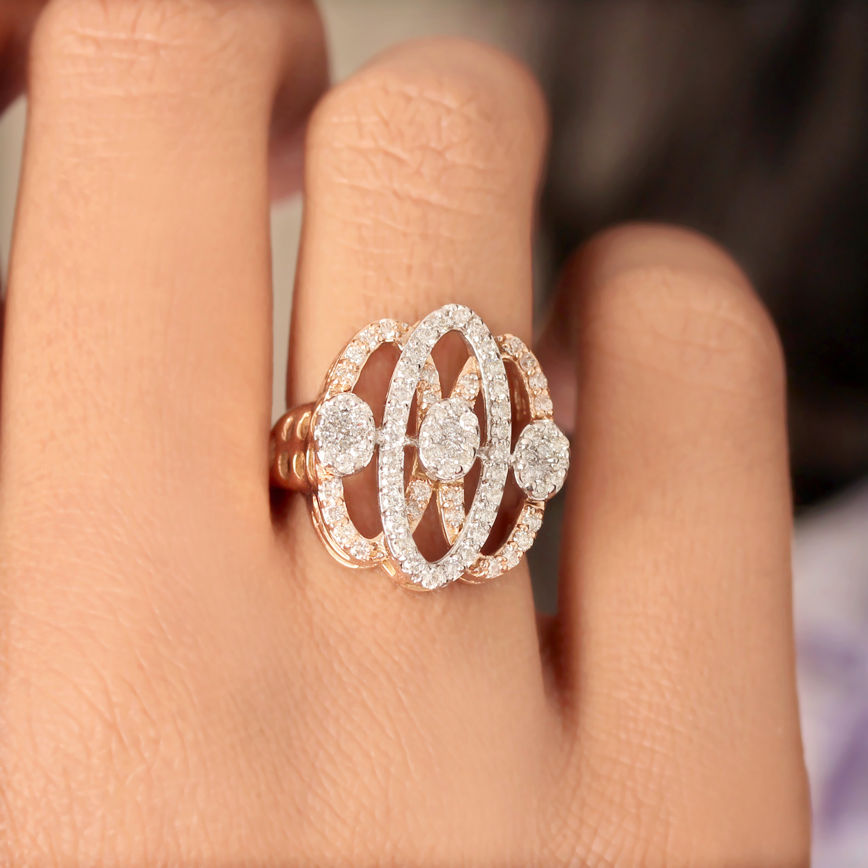 Diamond In Gold Ring