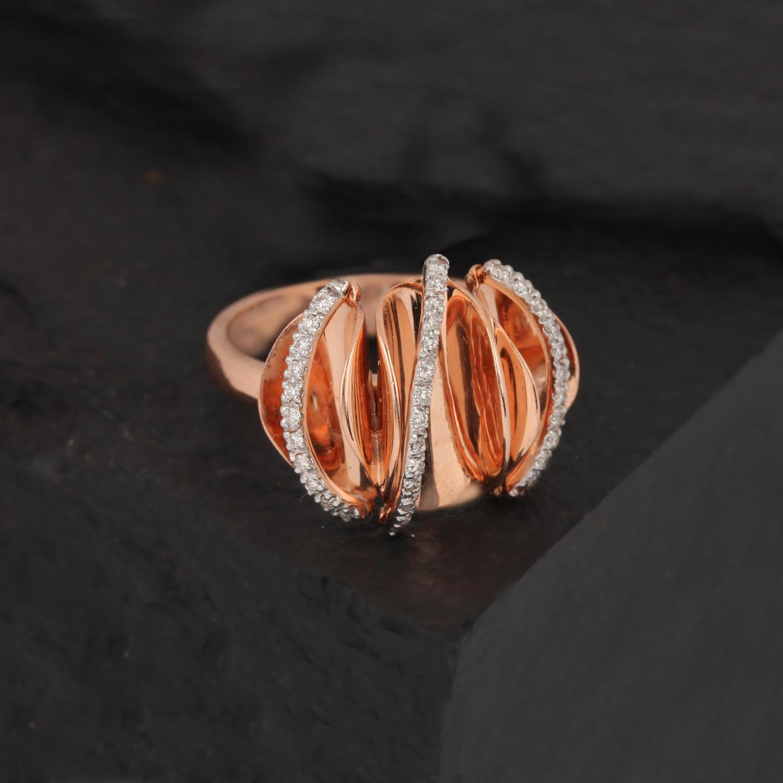 Rose Gold Ring In Unique Design
