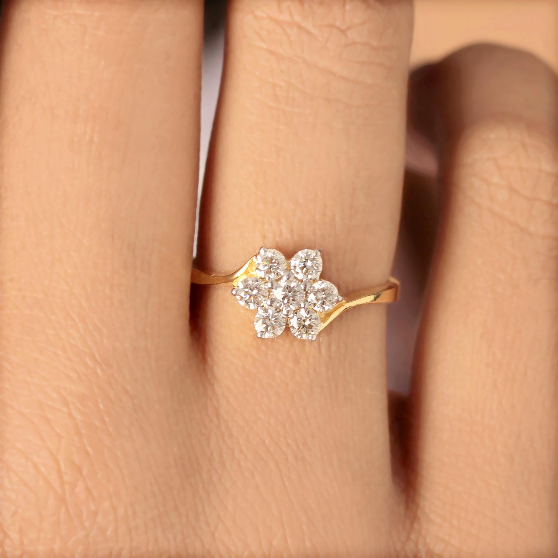 Flower Designed Gold Ring