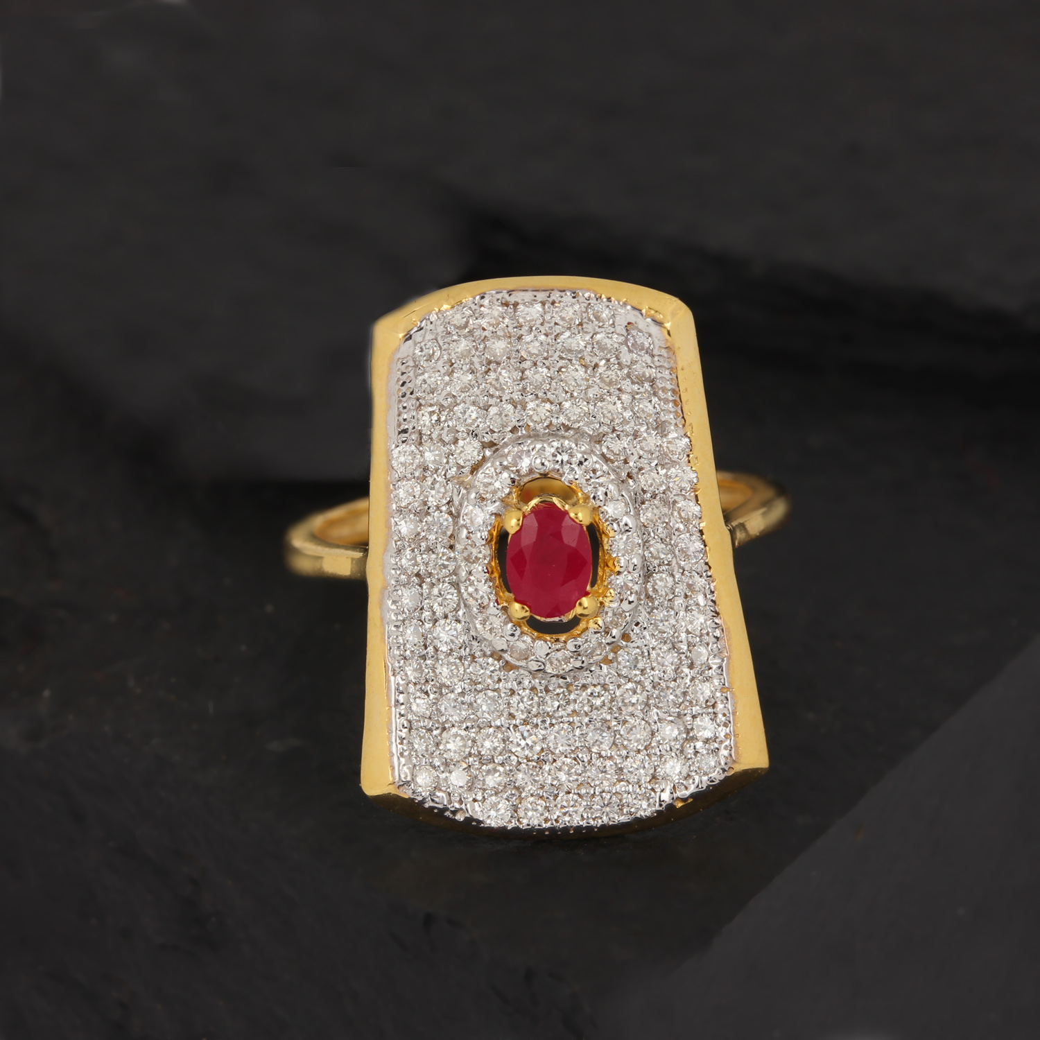 Beautiful Ring With Diamond-Ruby
