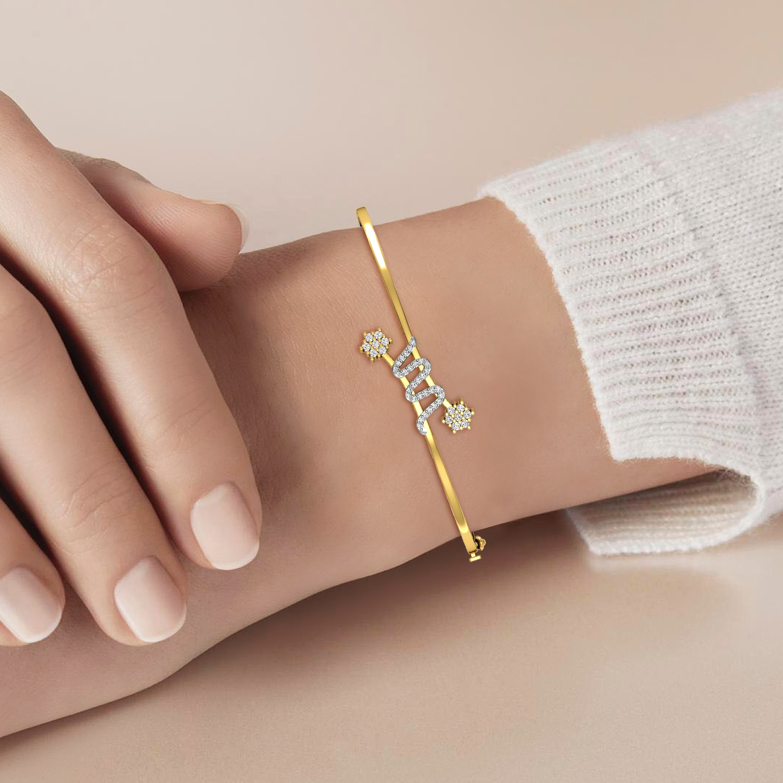 Beautiful Gold Bracelet with Diamond
