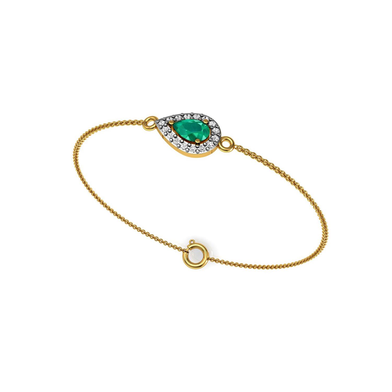 """A"" Letter Design Bracelet With Diamond"