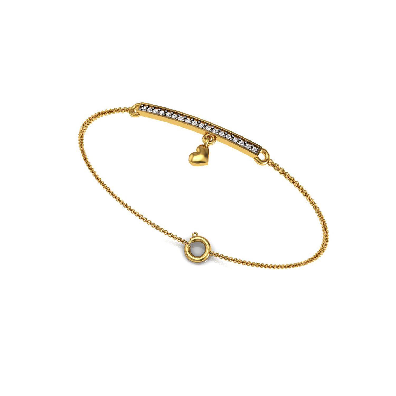 Leaf Design Bracelet with Diamond