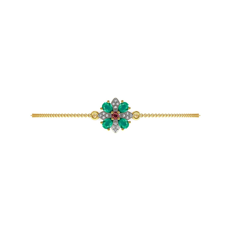 Beautiful Bracelet With Ruby & Emerald