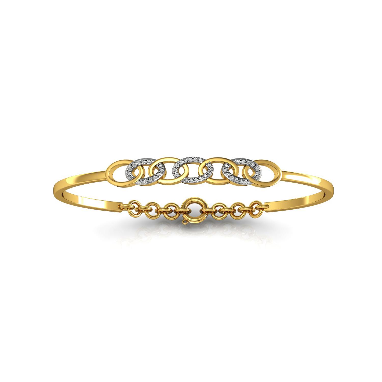 Leaves Design Bracelet with Diamond