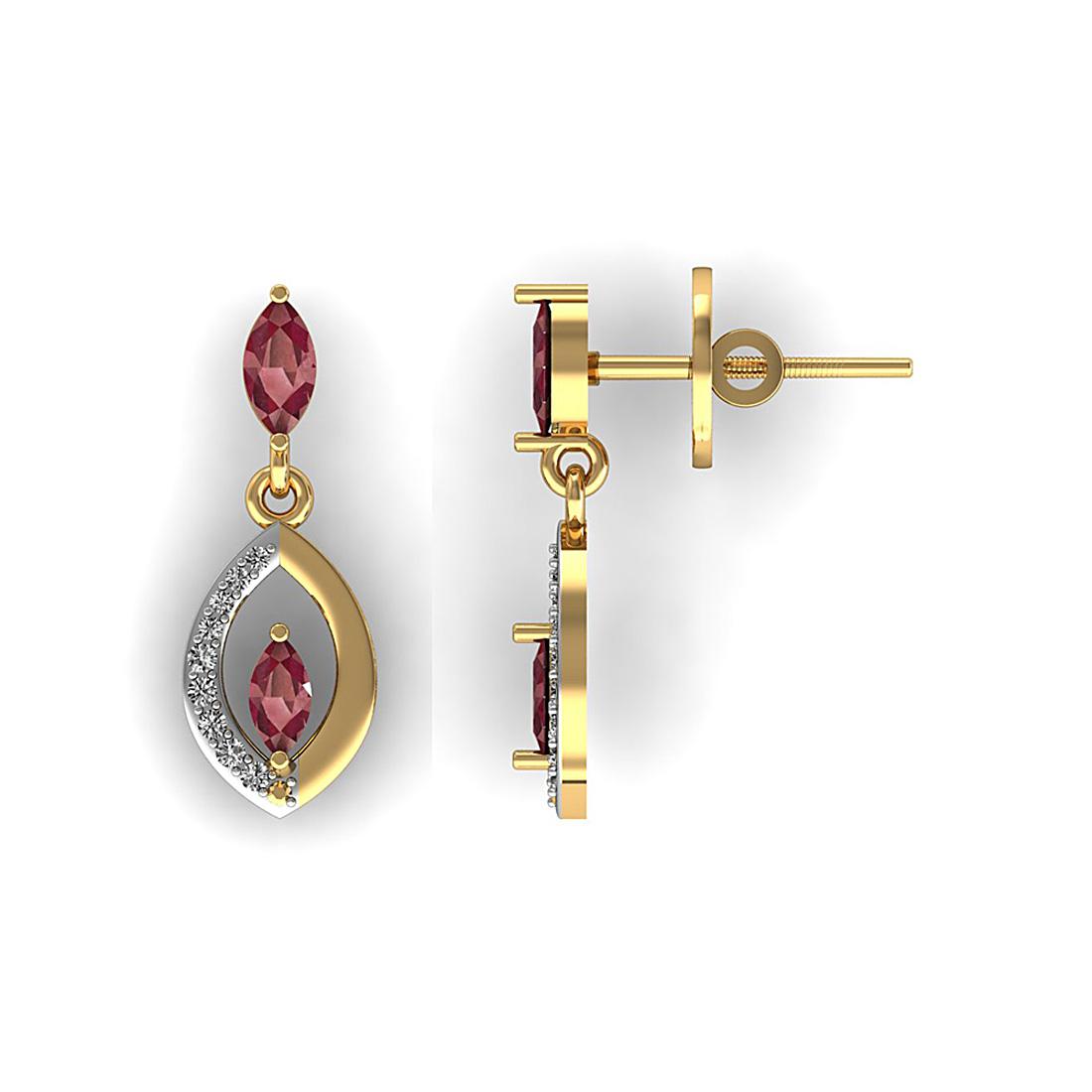 Marquise Shape Diamond Earring