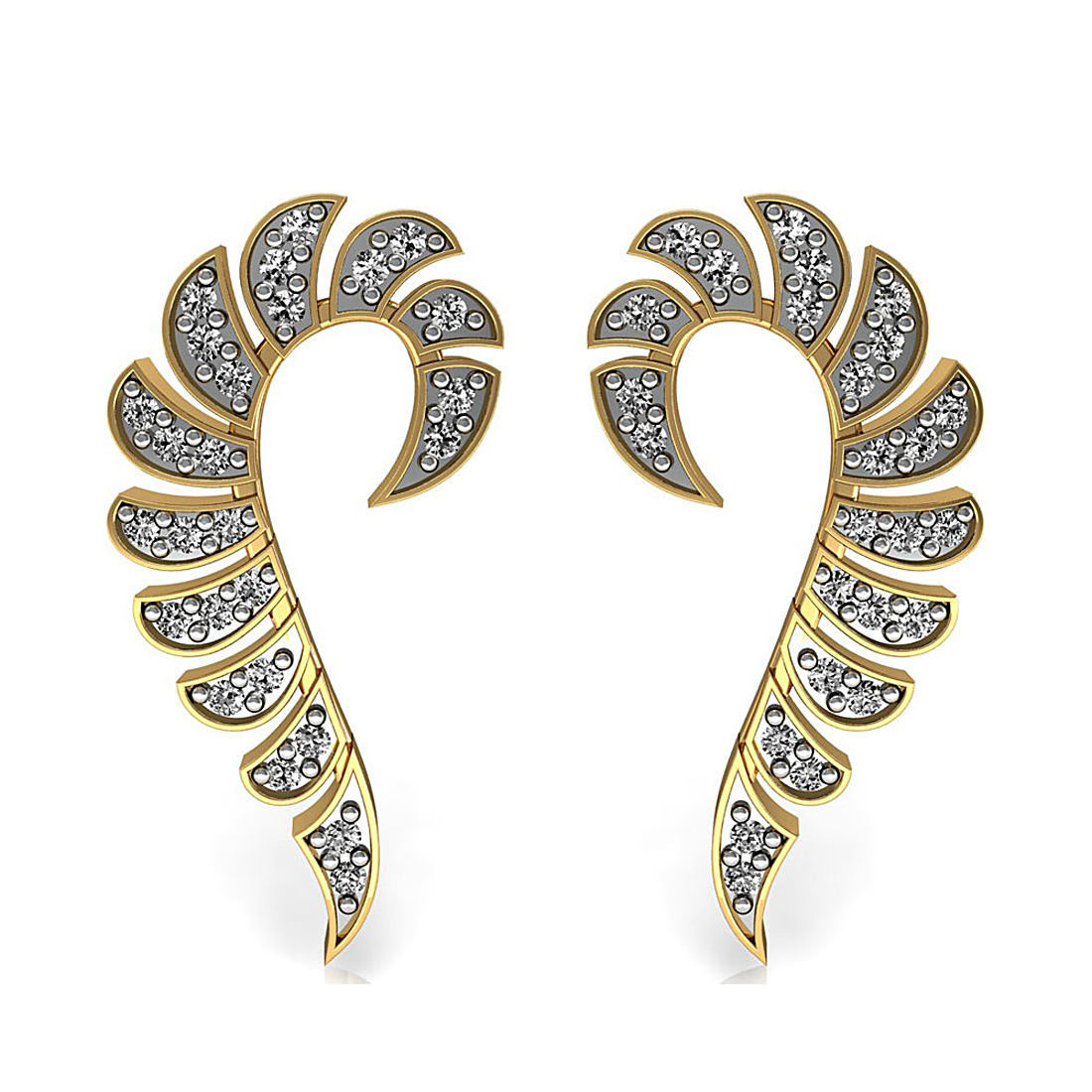 Gorgeous Diamond & Gold Earring