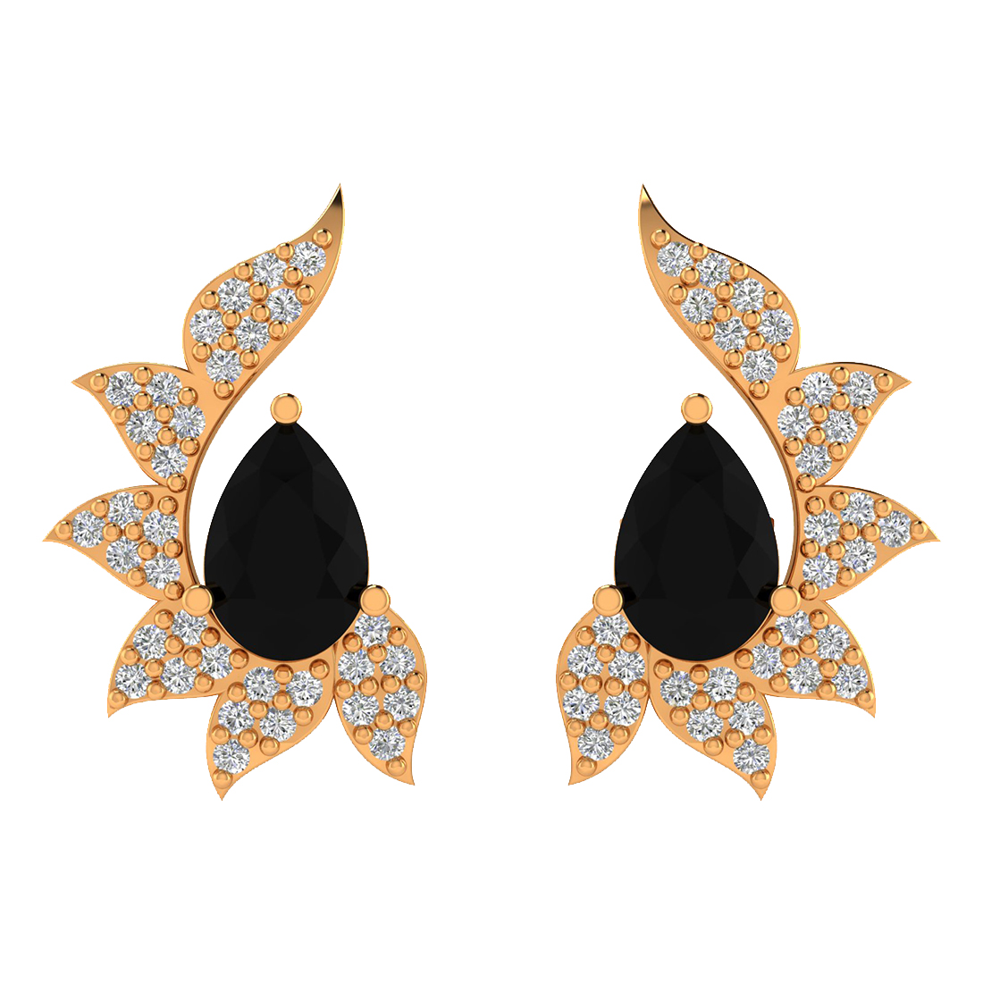 Black Onyx, Diamond Earring