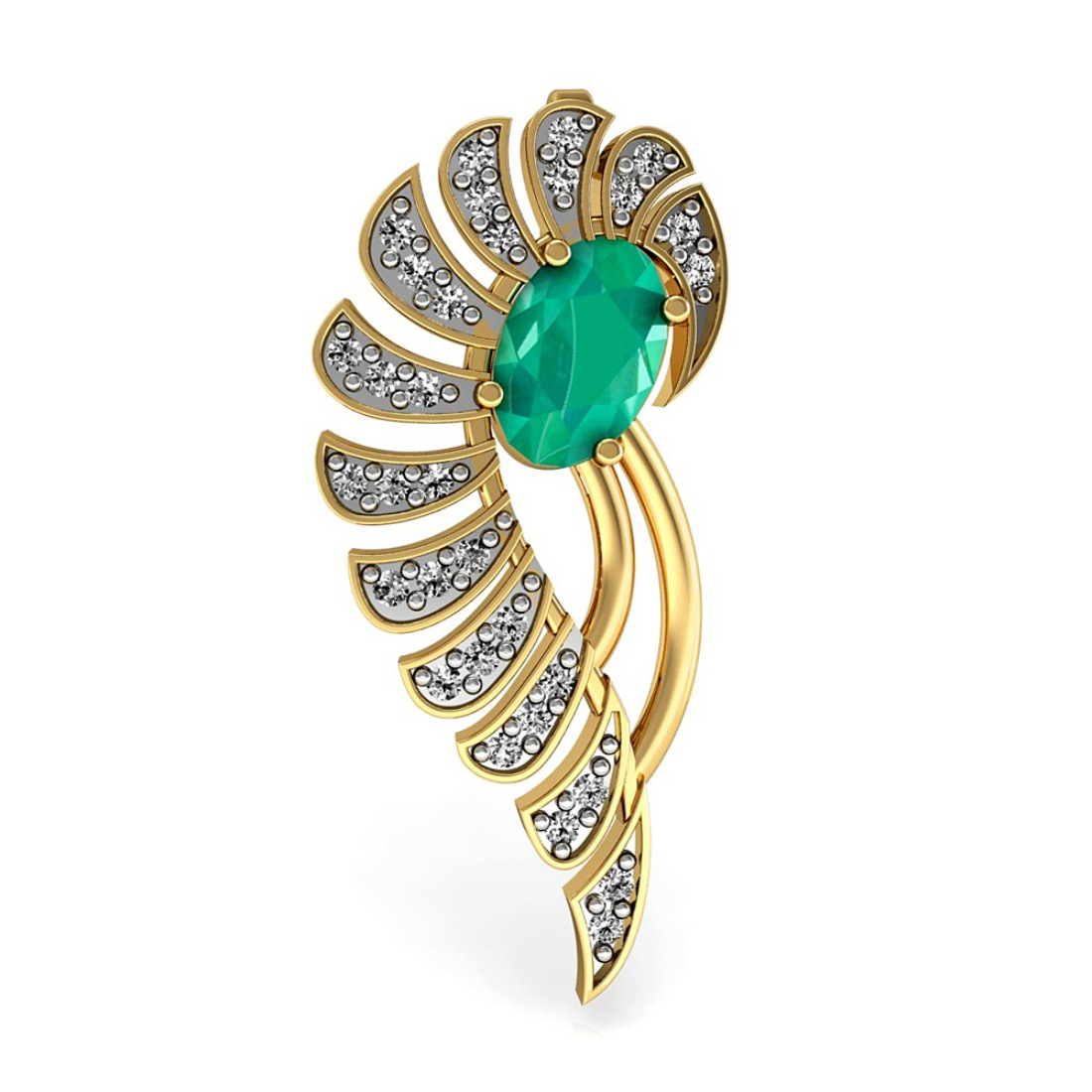 Natural Diamond & Emerald Pendant