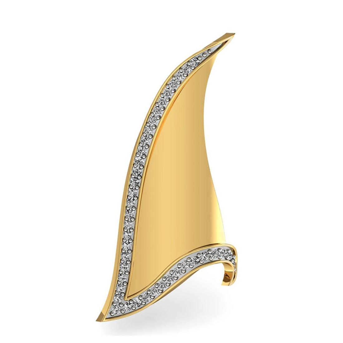 Stylish Diamond Pendant in Gold