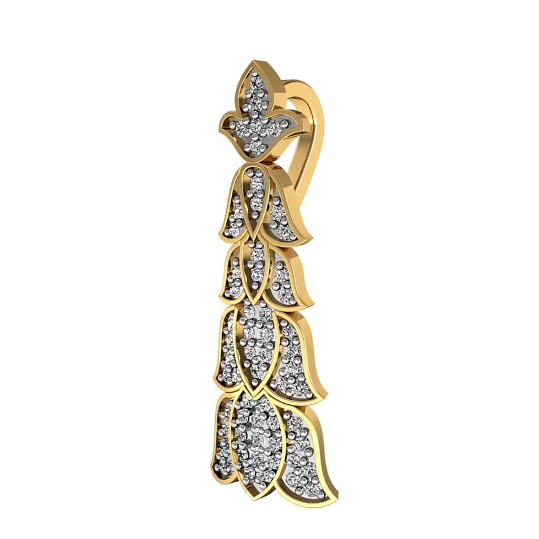 Flower Design Diamond Pendant