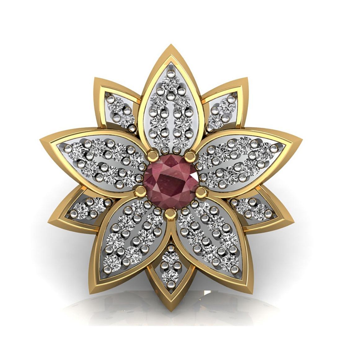 Diamond pendent in Flower Design