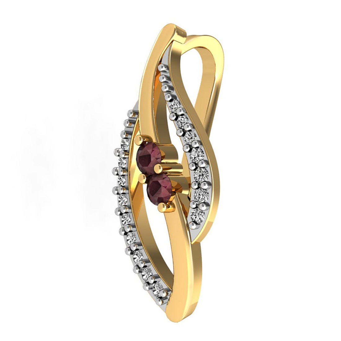 Ruby In Diamond Pendant