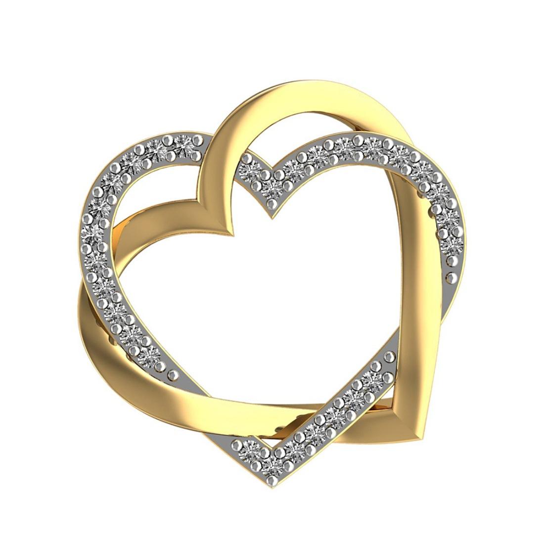 Diamond Pendant in Heart  Design