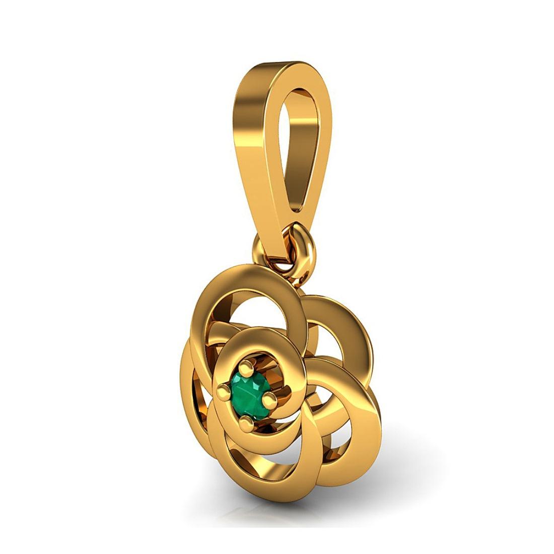 Beautiful Pendant with Emerald